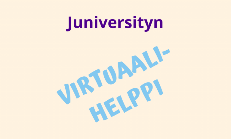 Tampereen yliopiston Juniversity virtuaali-helppi kansi