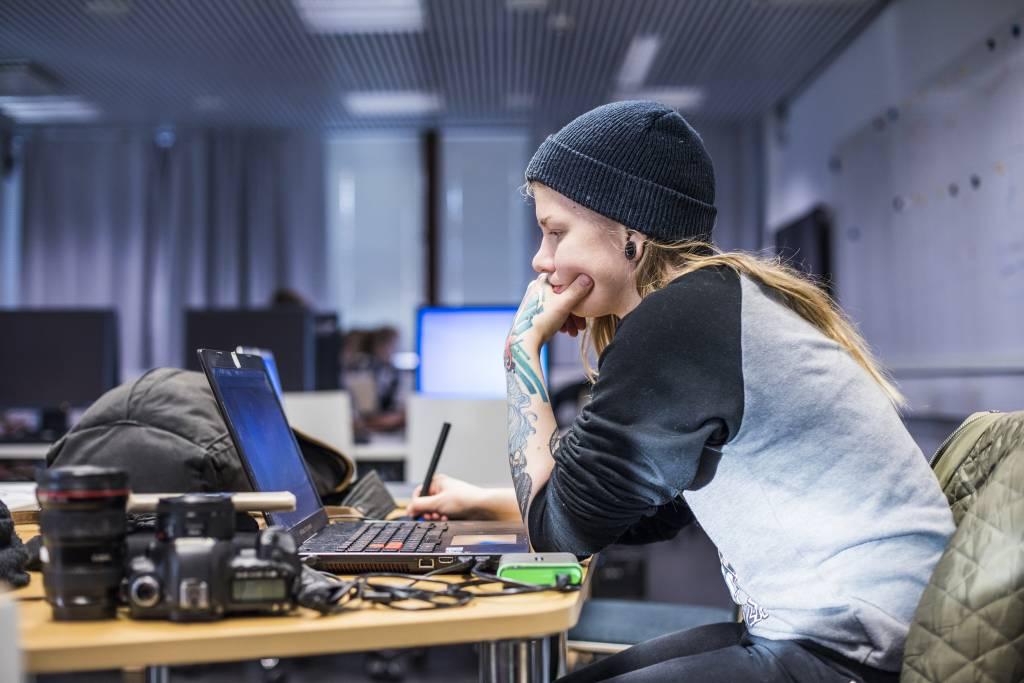 Harjoitustoimituksen (Moreenimedia) toimintaa 14.11.2017. Kuva: Jonne Renvall.