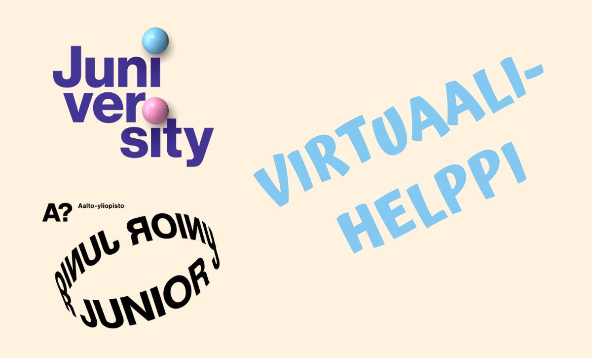Juniversity tampereen yliopisto yhteistyössä aalto-yliopisto juniversityn kanssa virtuaalihelppi