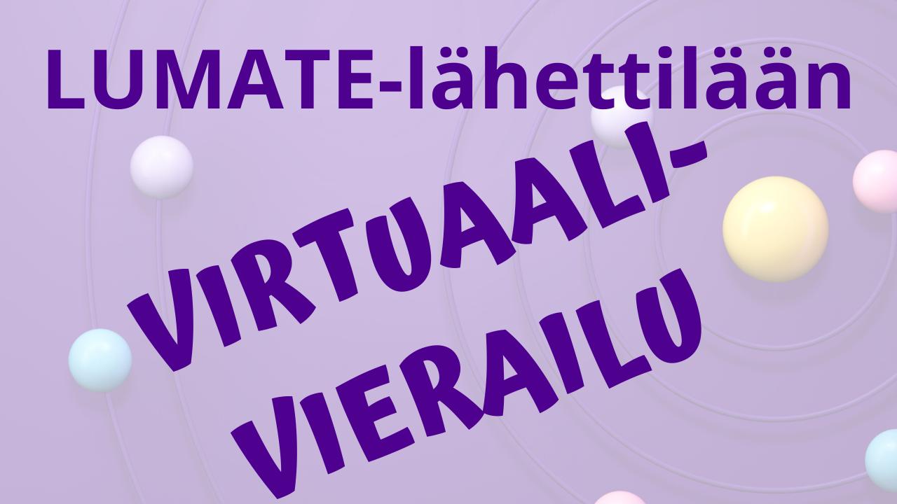 Tampereen yliopisto juniversity virtuaalinen LUMATE-lähettiläs -banneri.