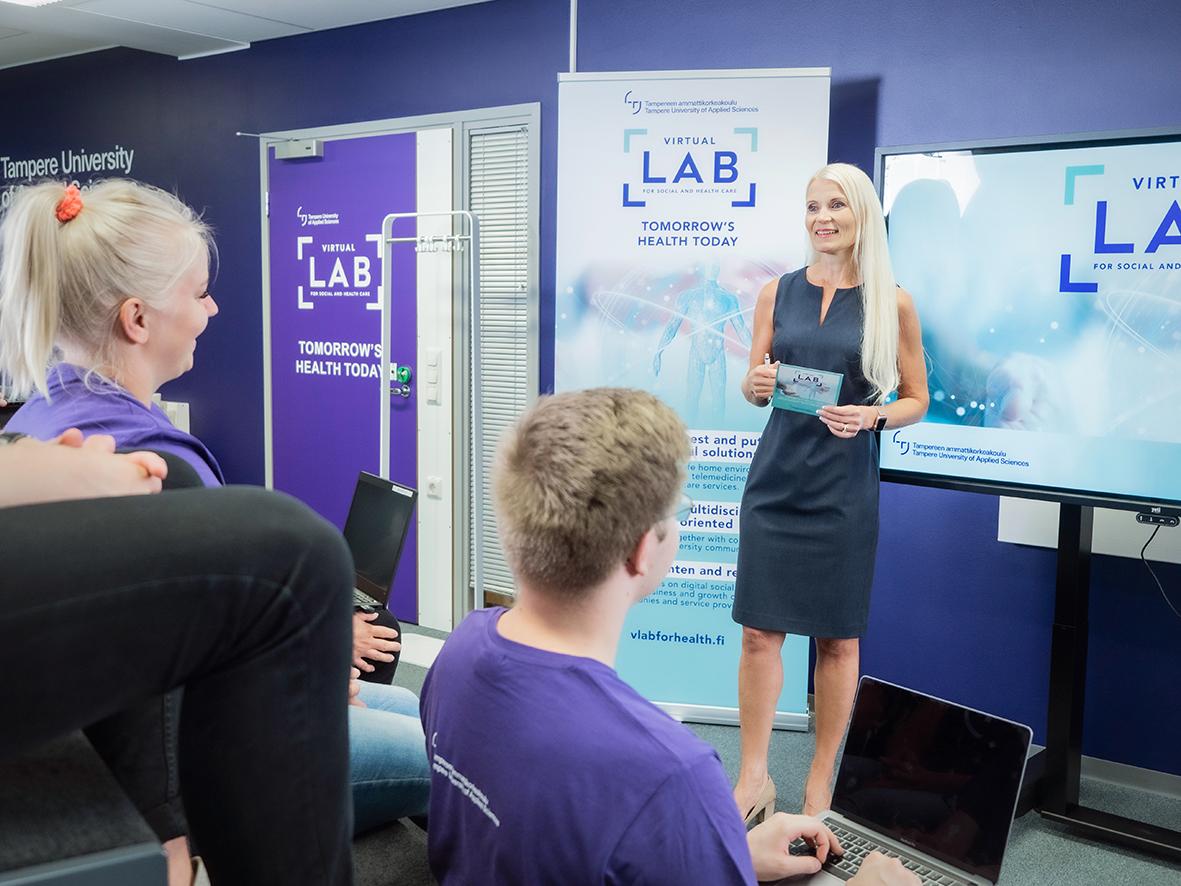 Opetustilanne - Sote Virtual Lab