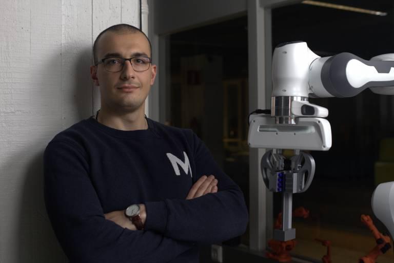 In the photo, doctoral researcher Metodi Netzev.