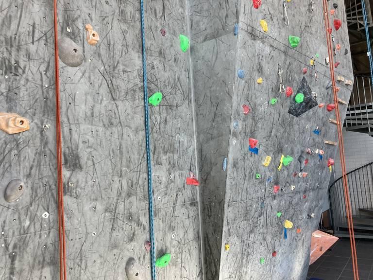 The climbing wall in Hervanta