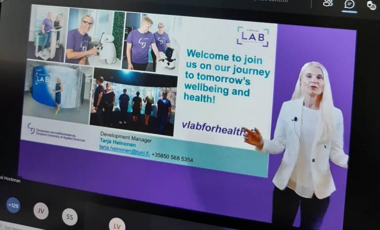 Business Finlandin Health Tuesday -tilaisuudessa 1.6.2021 Lab oli esillä pitchausvideon muodossa